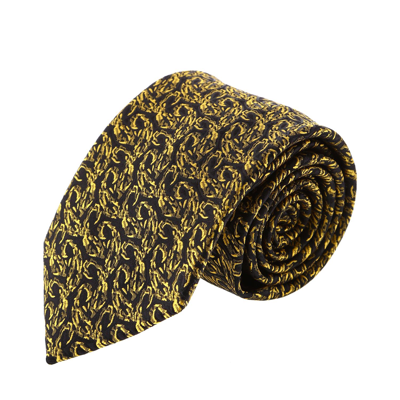 עניבה קלאסית צהוב משולב