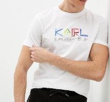 גברים | KARL LAGERFELD T-SHIRT LOGO WHITE