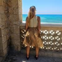 חצאית זהב + כיסים