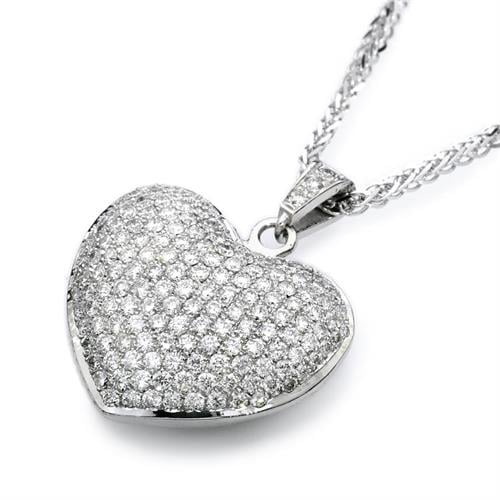 שרשרת לב פאוה יהלומים שרשרת יהלומים