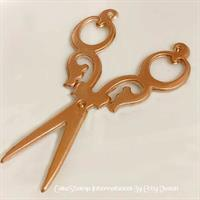 Curly handle Scissors chocolate mold 10cm