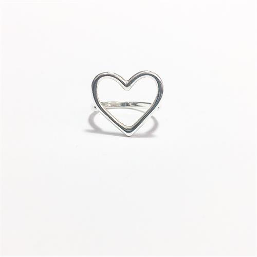 טבעת לב כסף