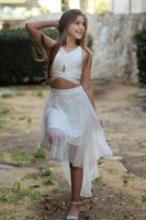 סט חצאית וחולצת קשירה