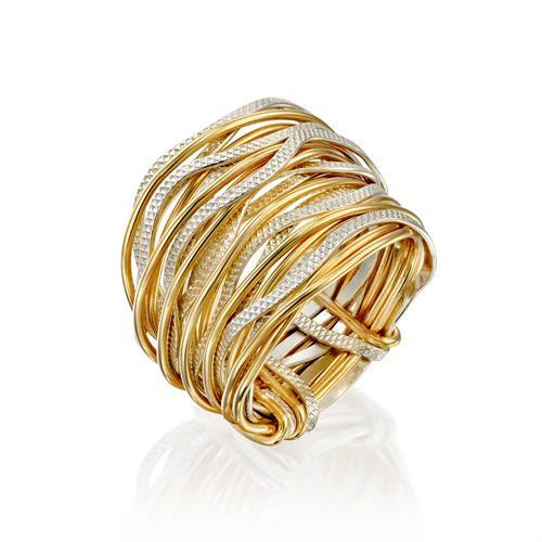 טבעת ספירלי גלים גלייז