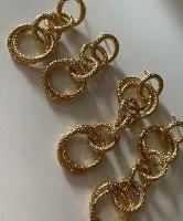 עגילי שאנל קצר זהב