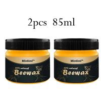 Beewax  להברקה וליטוש של עץ - 2 יחידות