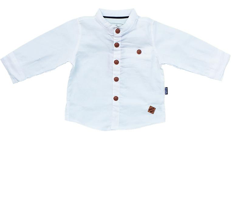 חולצה לבנה מכופתרת
