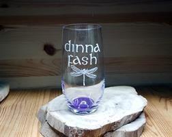 חריטה על זכוכית, חריטה על כוסות שתיה קרה, מתנות עם חריטה