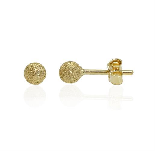 עגילי כדור זהב צמודים