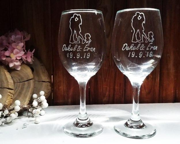 כוס יין לחופה | כוס חופה בעיצוב אישי