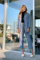 סט פסים ג'קט + מכנסיים ארוכות