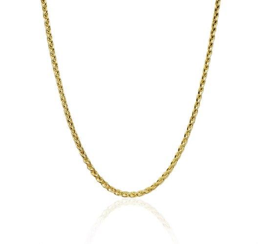 """שרשרת זהב חוליות ללא תליון לגבר 50 ס""""מ"""