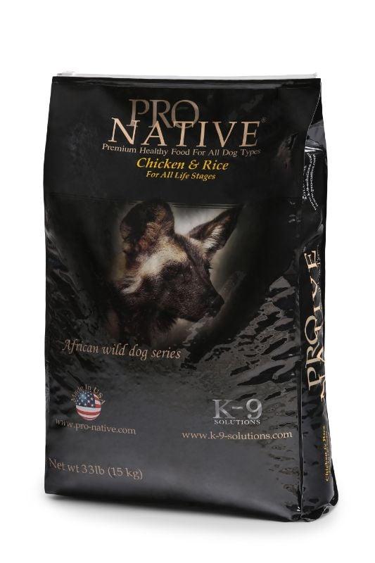 """פרו נייטיב עוף ואורז 15 ק""""ג מזון יבש לכלבים"""