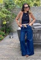 ג'ינס אייטיז כחול מתרחב
