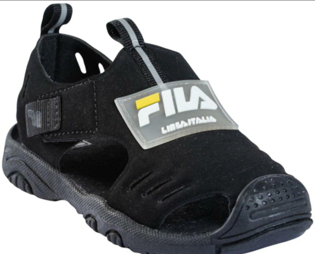 סנדל שחור צהוב סגור   FILA (22-27)