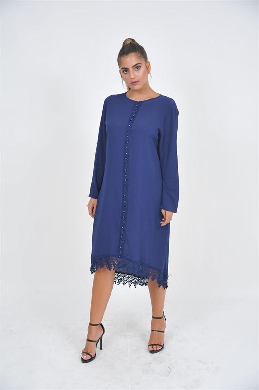 שמלת שיק פנינים כחולה