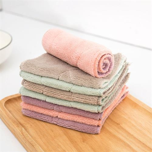 1PC Soft Super Absorbent Microfiber Kitchen Dish Cloth Household Cleaning Towel
