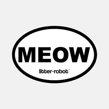 מדבקת Meow אליפטית