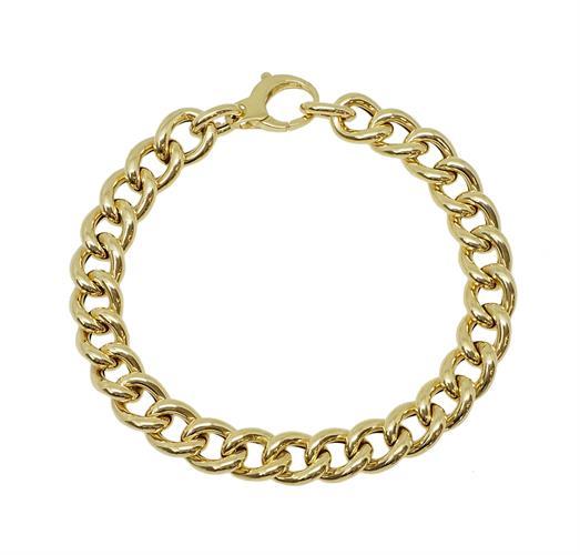 צמיד זהב חוליות לאישה עדין עם נוכחות