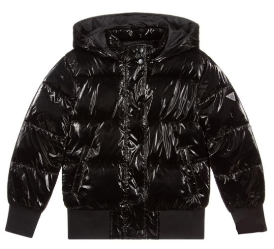 מעיל פוך שחור GUESS בנות  - 7-16 שנים