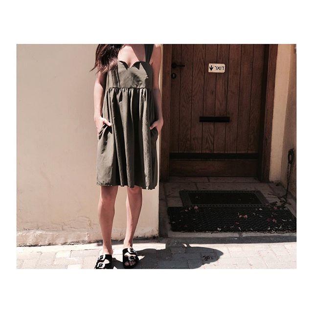 שמלת סיירה זית