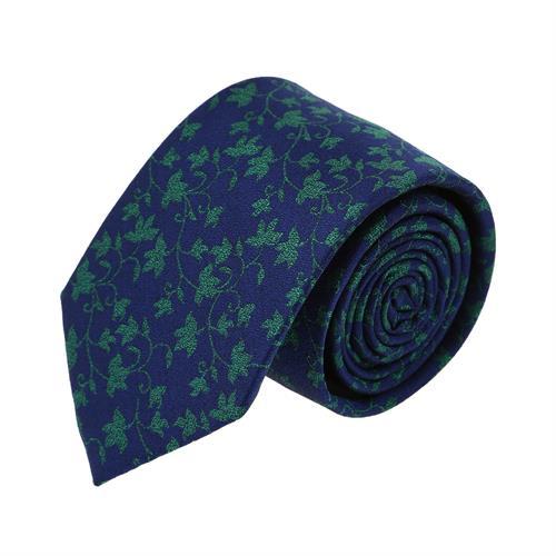 עניבה עלים ירוק כחול