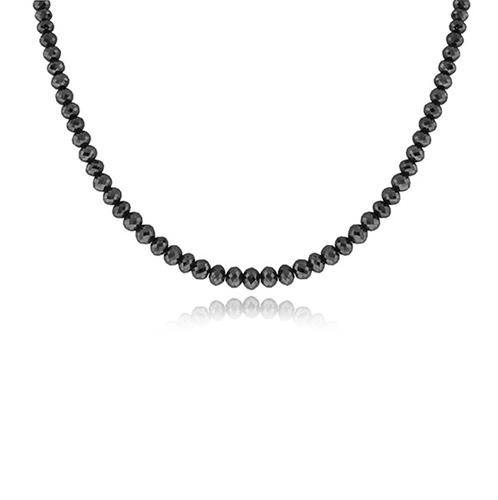 שרשרת יהלומים שחורים לגבר 37.5 קראט