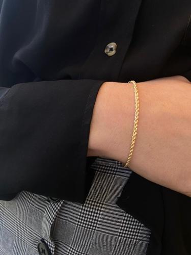 צמיד חבל מיני זהב 14k