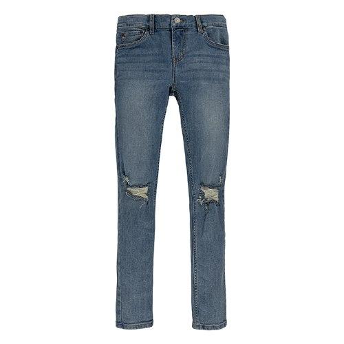 ג׳ינס כחול בהיר עם קרע LEVIS סקיני בנים - 2-20