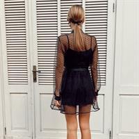 שמלת - שיפון מכופתרת