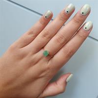 טבעת זהב אמרלד 1 קראט