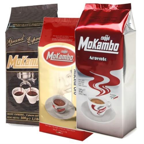 פולי קפה מוקמבו מעורב 1.5 קילו - Mokambo Argento, Oro, Grand Espresso
