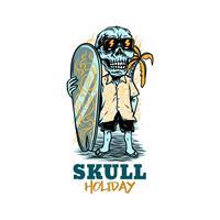 חולצת טי - Skull Holiday