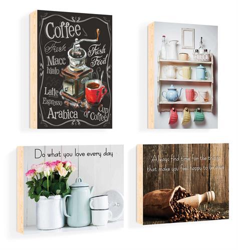 סט של 4 תמונות השראה מעוצבות לתינוקות, לסלון, חדר שינה, מטבח, ילדים - תמונות השראה מטבח 57