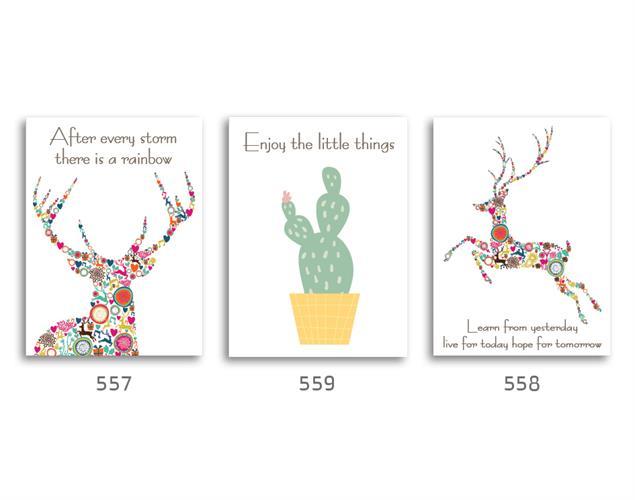 סט של 3 תמונות השראה מעוצבות לתינוקות, לסלון, חדר שינה, מטבח, ילדים - תמונות השראה 017