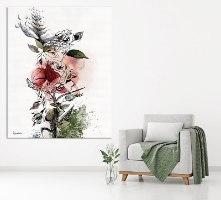 ציור ענק של פרח אדום שושנה