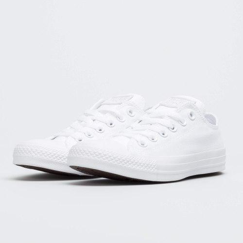 Converse Allstar נמוכות בד צבע לבן מלא