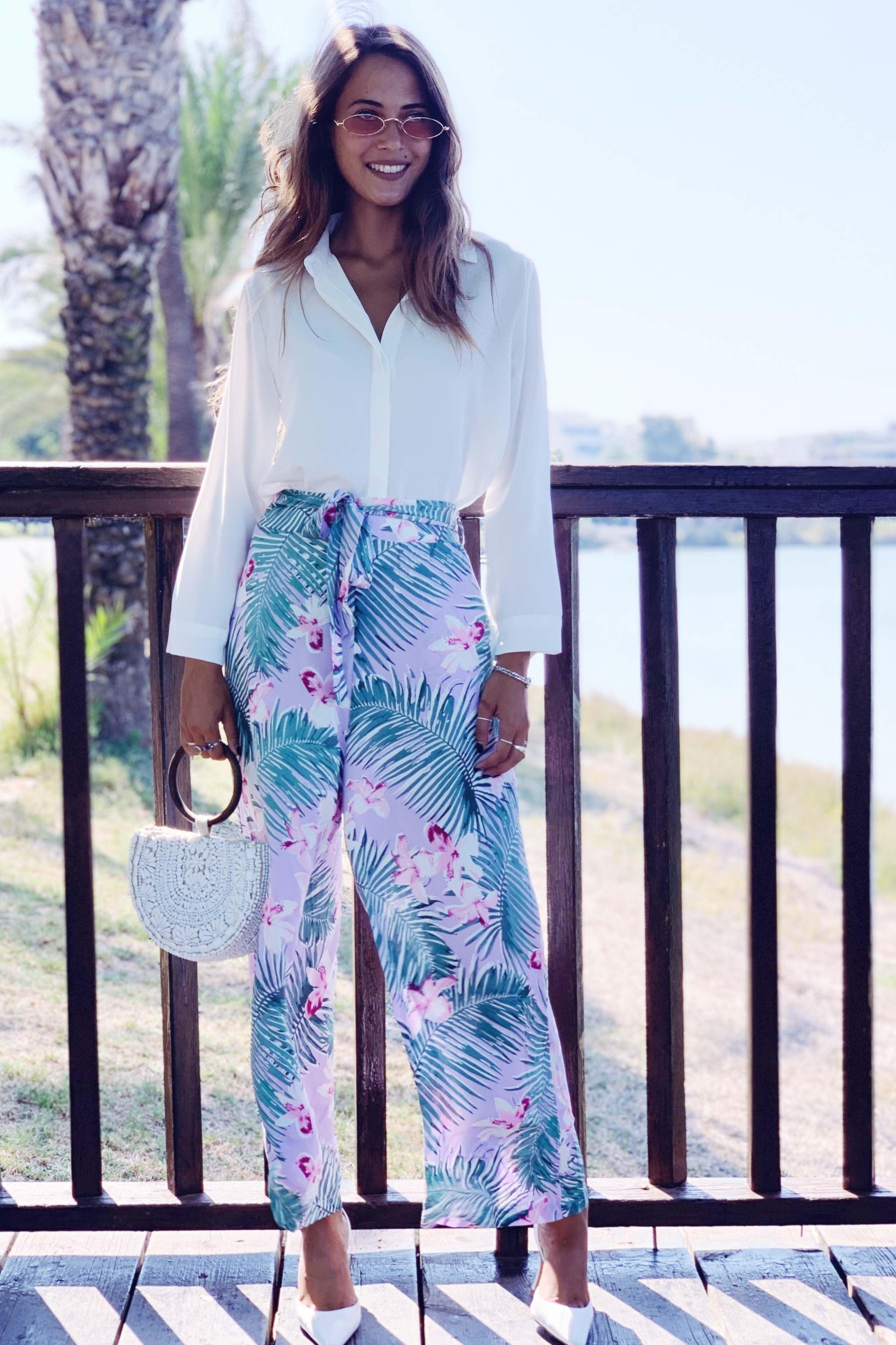מכנס טרופי + חגורה
