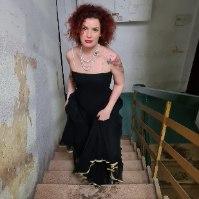 שמלת מקסי שחורה דרמטית מידה S