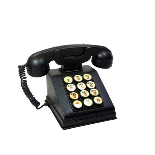 טלפון לחצנים עתיק כחול/שחור