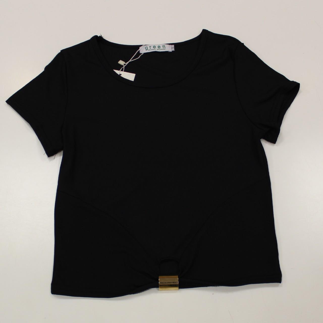 חולצה ריפ בטן שחור