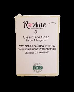 Clearoface Soap סבון לטיפול בפצעים כדוגמת אקנה