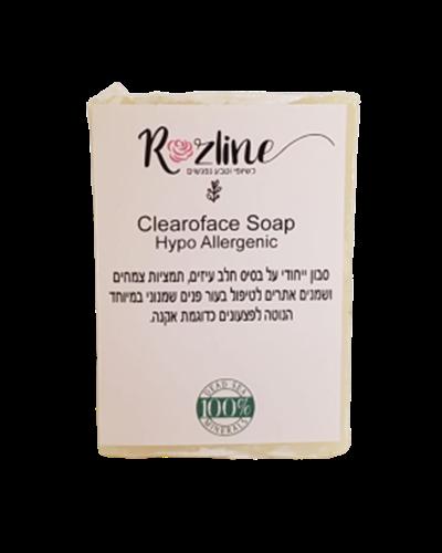 סבון לטיפול בפצעים כדוגמת אקנה - Clearoface Soap