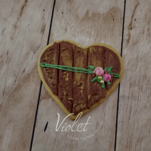עוגית לב עץ