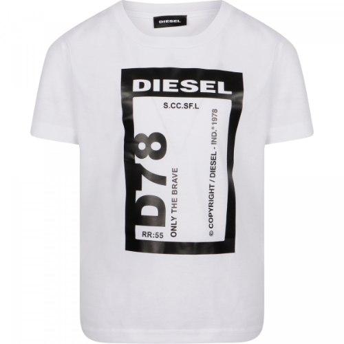 טישירט D78 - DIESEL לבנה - 4-16 שנים