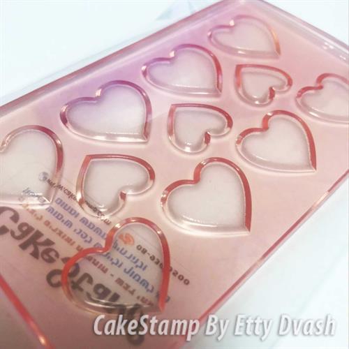 תבנית לבבות ליצירה בשוקולד