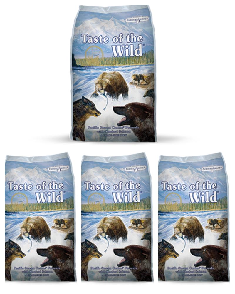 """4 שקים Taste Of The Wild דגים 13 ק""""ג"""