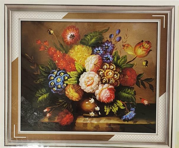 תמונת שיבוץ אבנים - זר פרחים
