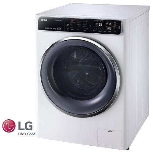 """מכונת כביסה פתח קידמי LG F1007CWT 10.5 ק""""ג"""