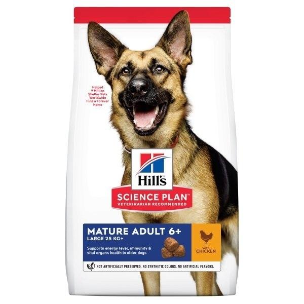 מזון לכלבים מבוגרים מגזעים גדולים הילס סיינס פלאן 14 קילו Science Plan Active Longevity Mature